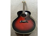 YAMAHA CJ12 SUNBURST JUMBO ACOUSTIC 2010