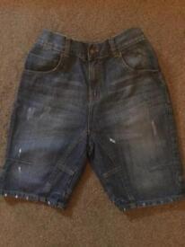 Boys denim shorts with adjustable waist band