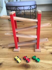 Wooden Car Track and Toys