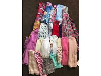 Mixed bundle of girls clothes aged 7 to 8