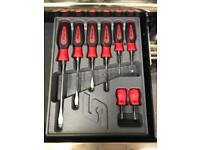 Snap on red screw driver set