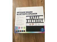 Message board Bluetooth speaker