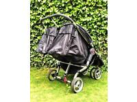 City jogger mini black double buggy