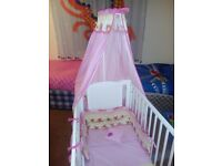 Cot with mattress and accesories.