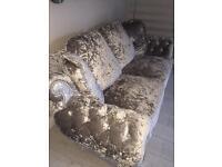 Pent dragon velvet sofa 3n2 seater