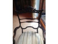 Chair with arms, Antique, Chinese Chippendale style Mahogany , probably Victorian