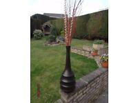 Tall Vase Dark Brown With Display