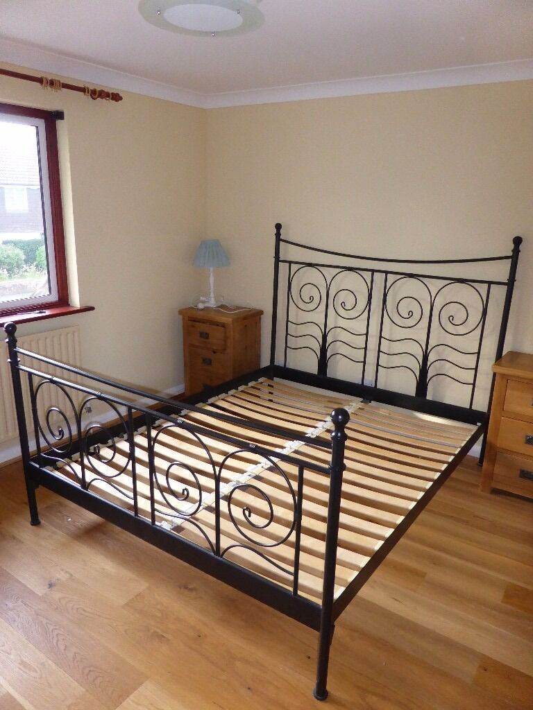 ikea king size bed frame black metal - Ikea King Size Bed Frame