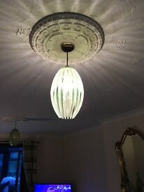 Ceiling lights green Perspex