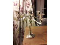 Silver coloured Candlestick