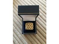 9ct gold 5 row keeper ring