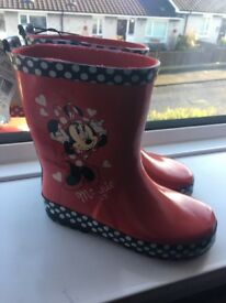 Disney Minnie Mouse Wellie boots - NEW - Junior Size 11 UK