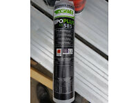 Bolt glue for anchoring bolts to foundations.