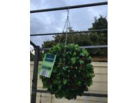 """12"""" hanging topiary ball with led lights"""
