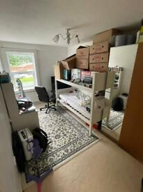 large 2 bedroom flat woth separate kitchen