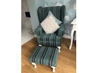 Armchair & Matching Footstool