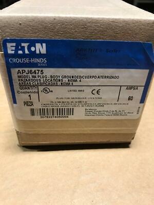 Crouse Hind Apj6475 60 Amps 4 Wire 4 Pole Plug Eaton Arktite