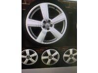 """19"""" Audi RS6 Style TT A4 A6 *Rare size* Alloy wheels VW Golf Caddy 5x100"""