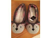 Next Women's/Girl's cute animal slippers, size 3, BNWT