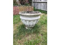 Decorative Stone/Concrete Plant Pot