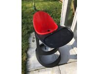 Ikea black and red high chair