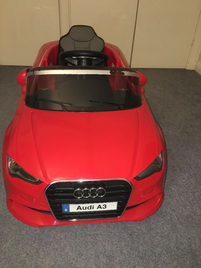 8ad187ee8d9 AUDI A3 LICENSED KIDS RIDE ON CAR 12V TWIN MOTOR BATTERY 2.4G REMOTE  CONTROL CAR