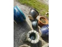 Various pots for garden