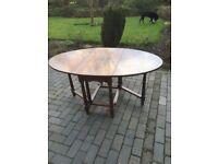 solid oak bespoke gateleg table