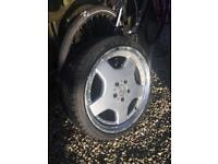 Mercedes style alloy wheels inc Tyres