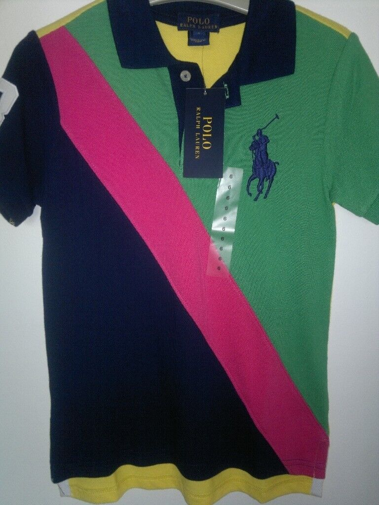 Ralph Lauren Boys Polo Shirt Size 6 Bnwt