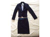 2-piece Jacket/Blazer Skirt combo (H&M, Like New, Navy Blue, Size 8/34)