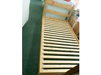 Great solid pine single (180x98cm) bed frame
