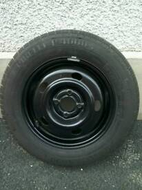 New Renault wheel and tyre.