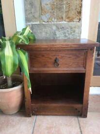 Oak veneered bedside cabinet