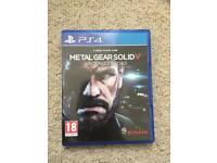 Metal Gear solid V 5 Ground Zeroes PS4
