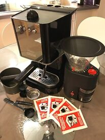 Gaggia Baby Espresso Coffee Machine with Grinder and Accessories - Excellent Condition