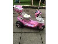 Girls electric moped