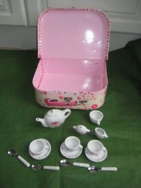 Child Toy Picnic Case for £5.00 and Toy Tea Set for £3.00