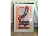 1930 Official World Cup Mounted Framed Poster.