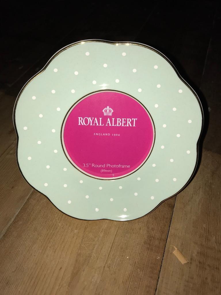 Royal Albert China photo frame - boxed