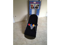 Baby Bjorne Baby Sitter 1-2-3 for ages 0 - 24 months in black / gingham.