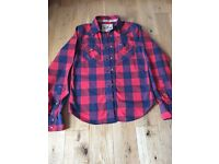 Hollister men's checked casual shirt, size small