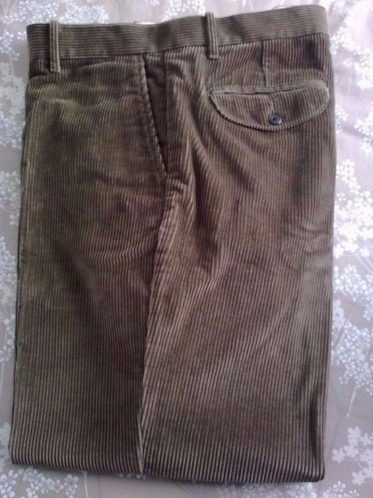 MENS M&S REGULAR FIT THICK CHUNKY CORDS CORDUROY TROUSERS MOLE RRP £39.50 BNWOT