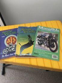 Classic Motorcycle Magazines 2 x 1940's ---- 1 x 1990