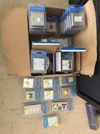 Various sockets and switches