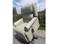 Leather electric riser recliner armchair 25 stone limit DELIVER 10 MILES rise recline chair