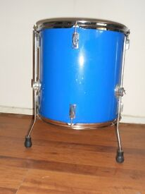 "Tom Drum in blue Diameter is 16 1/2"" with stand"