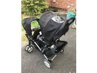 Graco double pushchair.