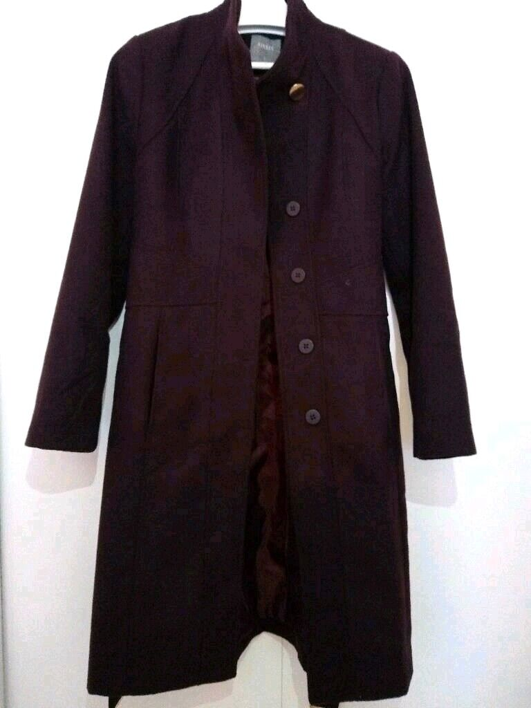 dd51e4c8b3f8 Oasis Panel Fitted Coat - Burgundy size M | in Hampstead, London ...