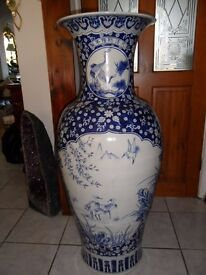 Tall floor vase